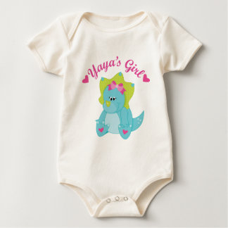 Yayas Girl Dinosaur Baby Bodysuit