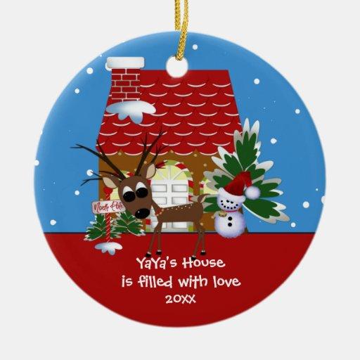 YaYa's Love House Christmas Ornament