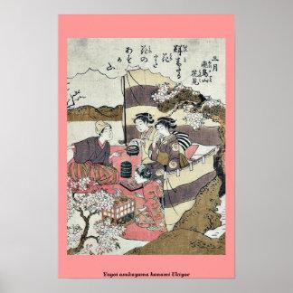 Yayoi asukayama hanami Ukiyoe Posters