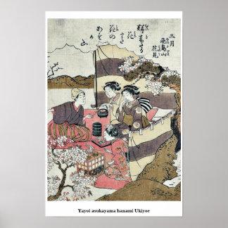 Yayoi asukayama hanami Ukiyoe Print