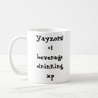 ¡Yayzors! +1 xp de consumición de la bebida Tazas