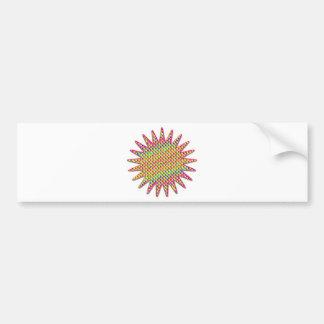 Yazidi 21 ray sun bumper sticker