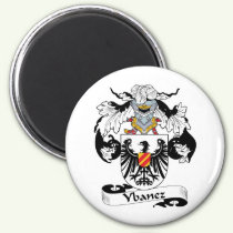 Ybanez Family Crest Magnet