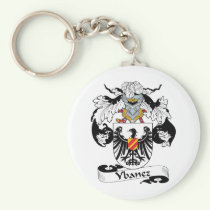 Ybanez Family Crest Keychain