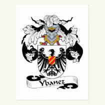 Ybanez Family Crest Postcard