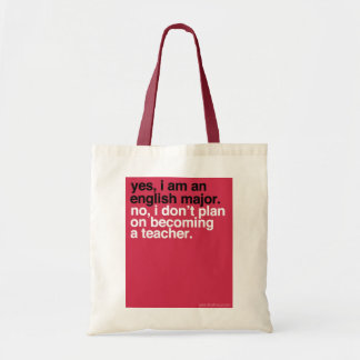 YBN: Yes, I am an English major Canvas Bags