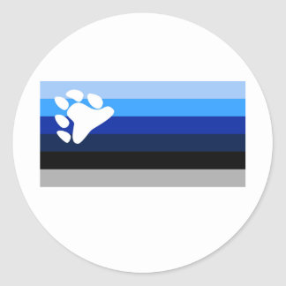 YBOR ISLA VIEQUES BLUES CLASSIC ROUND STICKER