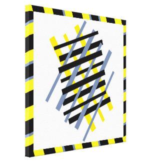 Ybpgw abstracto moderno 32 del modelo de la raya impresión en lienzo
