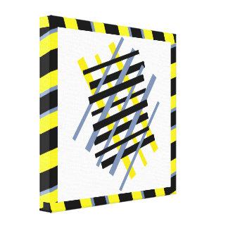 Ybpgw abstracto moderno del modelo de la raya impresión en lienzo