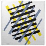 Ybpgw abstracto moderno del modelo de la raya servilletas de papel