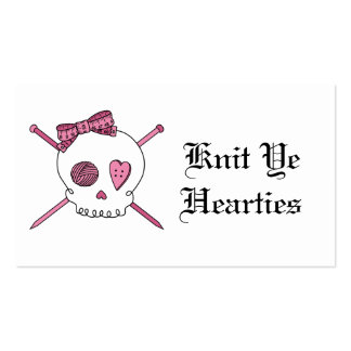 YE de punto Hearties (rosa) Tarjetas De Visita