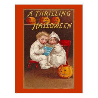 Ye Ghost Story Scares Kids Vintage Halloween Postcard