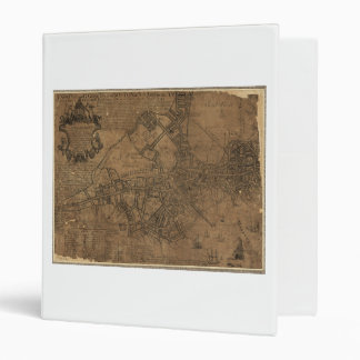 Ye Great Town of Boston Map by William Price 1743 3 Ring Binder