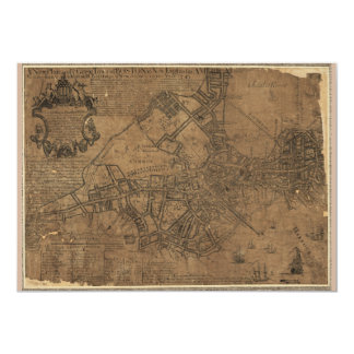 Ye Great Town of Boston Map by William Price 1743 Card
