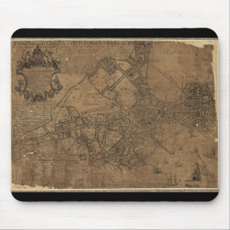 Ye Great Town of Boston Map by William Price 1743 Mouse Pad
