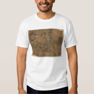 Ye Great Town of Boston Map by William Price 1743 Shirt