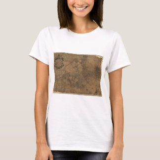 Ye Great Town of Boston Map by William Price 1743 T-Shirt