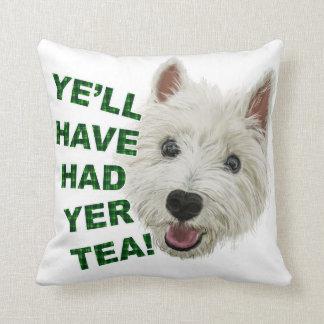Ye'll have had yer tea throw pillow
