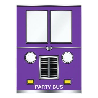 Ye Old Bus (Customizable color) 5.5x7.5 Paper Invitation Card