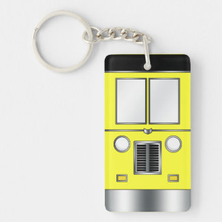 Ye Old Bus (Customizable color) Rectangle Acrylic Keychains