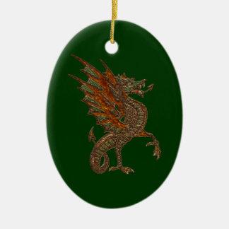 Ye Old Medieval Dragon Design Ceramic Ornament