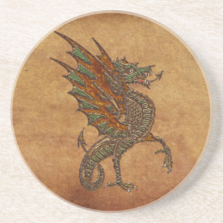 Ye Old Medieval Dragon Design Drink Coasters