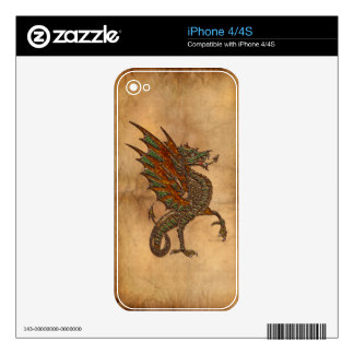 Ye Old Medieval Dragon Design Decals For The iPhone 4