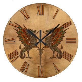 Ye Old Medieval Dragon Design Large Clock