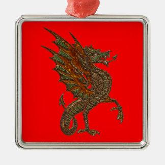 Ye Old Medieval Dragon Design Metal Ornament