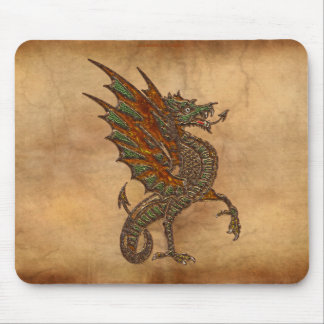 Ye Old Medieval Dragon Design Mouse Pad
