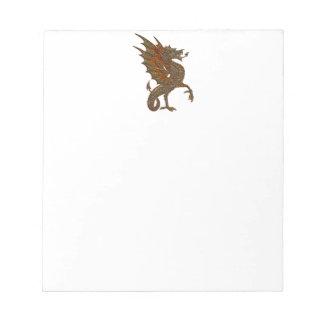 Ye Old Medieval Dragon Design Notepad