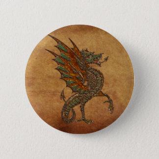 Ye Old Medieval Dragon Design Pinback Button