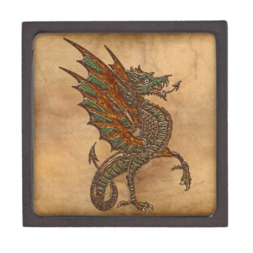 Ye Old Medieval Dragon Design Premium Trinket Boxes