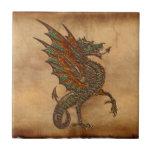 Ye Old Medieval Dragon Design Tile
