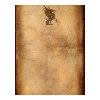 Ye Old Medieval Dragon Design Writing Paper Letterhead