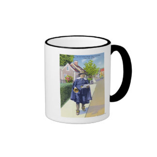 Ye Old Town Crier Ringing Bell Coffee Mugs