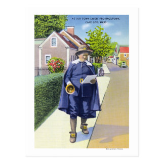 Ye Old Town Crier Ringing Bell Postcards
