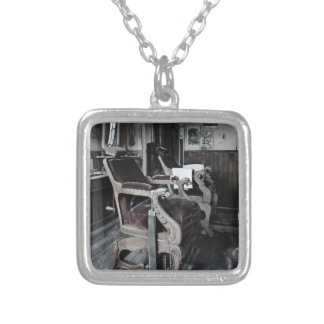 Ye Olde Barber Shoppe Silver Plated Necklace