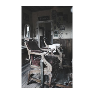 Ye Olde Barber Shoppe Stretched Canvas