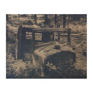 Ye olde car wood print