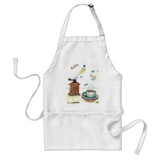 Ye Olde Coffee Grinder - Coffee Folk Art Adult Apron