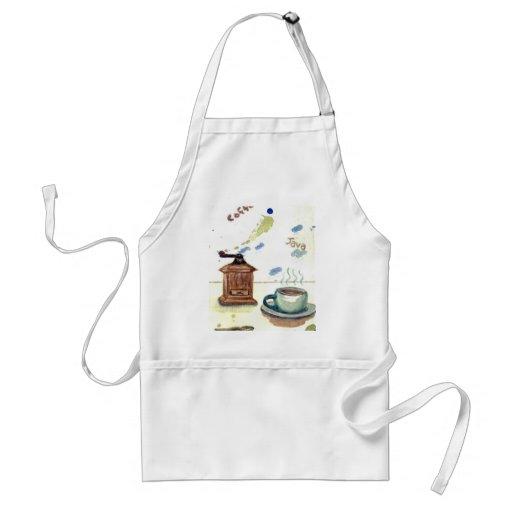 Ye Olde Coffee Grinder - Coffee Folk Art Adult Apron