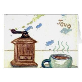 Ye Olde Coffee Grinder - Coffee Folk Art Card