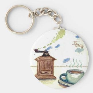 Ye Olde Coffee Grinder - Coffee Folk Art Keychain