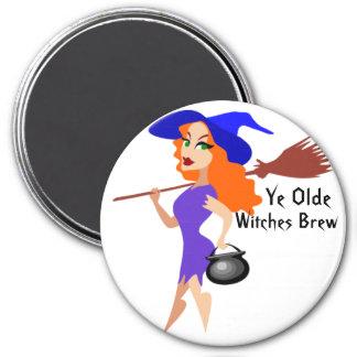 YE Olde, imán del Brew de las brujas