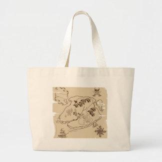 Ye Olde Pirate Treasure Map Canvas Bags
