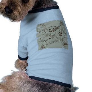 Ye Olde Pirate Treasure Map Dog Tshirt