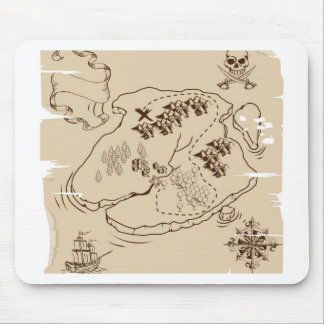 Ye Olde Pirate Treasure Map Mouse Pads