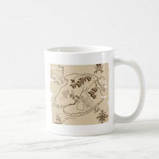 Ye Olde Pirate Treasure Map Coffee Mugs