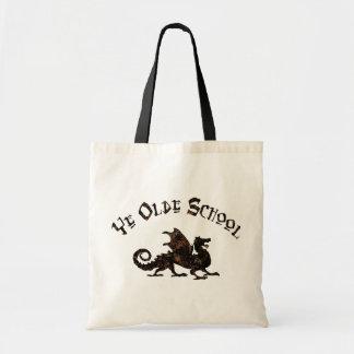 Ye Olde School Medieval Dragon Tote Bag